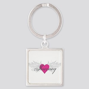 My Sweet Angel Journey Square Keychain