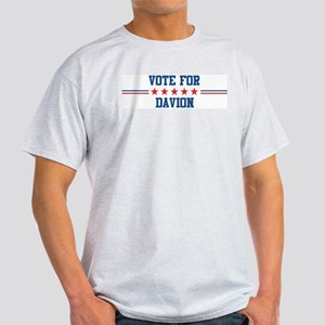 Vote for DAVION Ash Grey T-Shirt