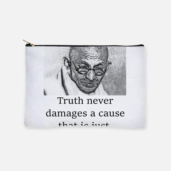 Truth Never Damages - Mahatma Gandhi Makeup Pouch