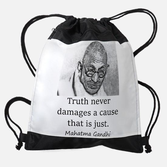 Truth Never Damages - Mahatma Gandhi Drawstring Ba