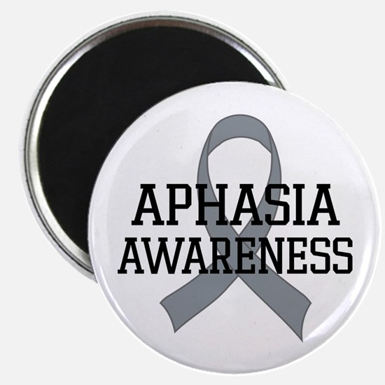 Aphasia Awareness Gray Ribbon Magnet