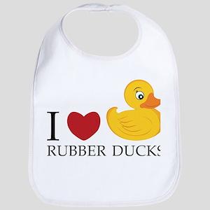 Love Rubber Ducks Bib