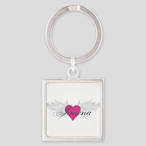 My Sweet Angel Jimena Square Keychain