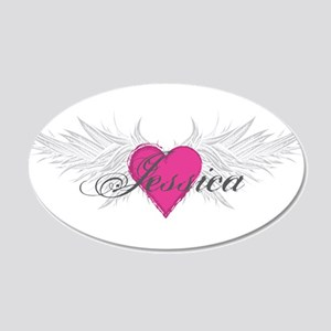 My Sweet Angel Jessica 20x12 Oval Wall Decal
