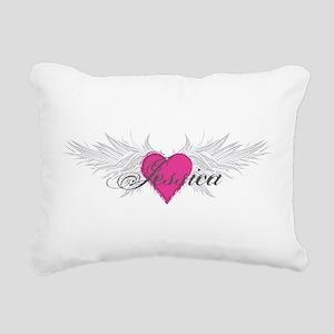 My Sweet Angel Jessica Rectangular Canvas Pillow