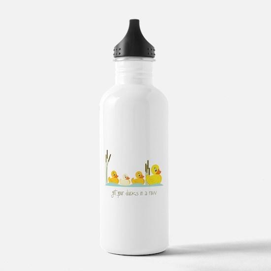 In A Row Water Bottle