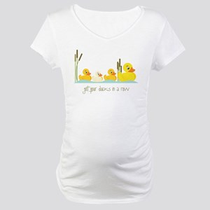 In A Row Maternity T-Shirt