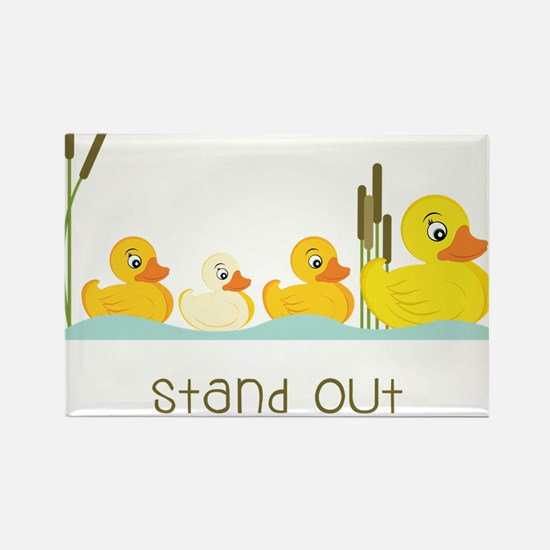 Stand Out Rectangle Magnet