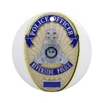 Riverside Police Officer Ornament (Round)