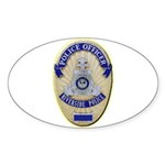 Riverside Police Officer Sticker (Oval 50 pk)