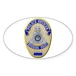 Riverside Police Officer Sticker (Oval 10 pk)