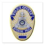 Riverside Police Officer Square Car Magnet 3
