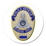 Riverside Police Officer Round Car Magnet