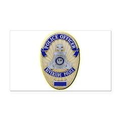 Riverside Police Officer Rectangle Car Magnet