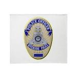 Riverside Police Officer Throw Blanket