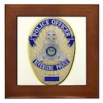 Riverside Police Officer Framed Tile