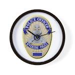 Riverside Police Officer Wall Clock
