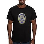 Riverside Police Officer Men's Fitted T-Shirt (dar