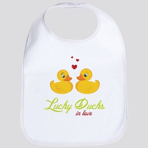 Lucky Ducks In Love Bib
