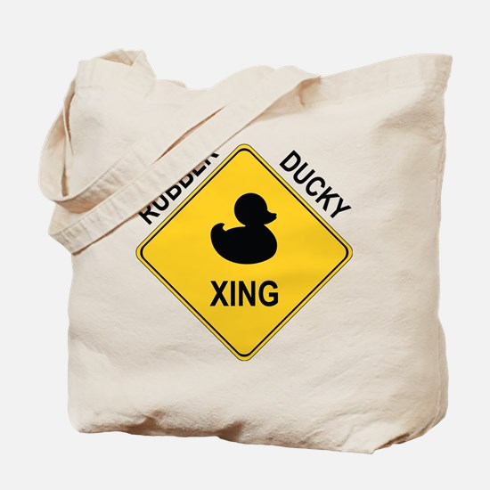 Rubber Ducky Xing Tote Bag