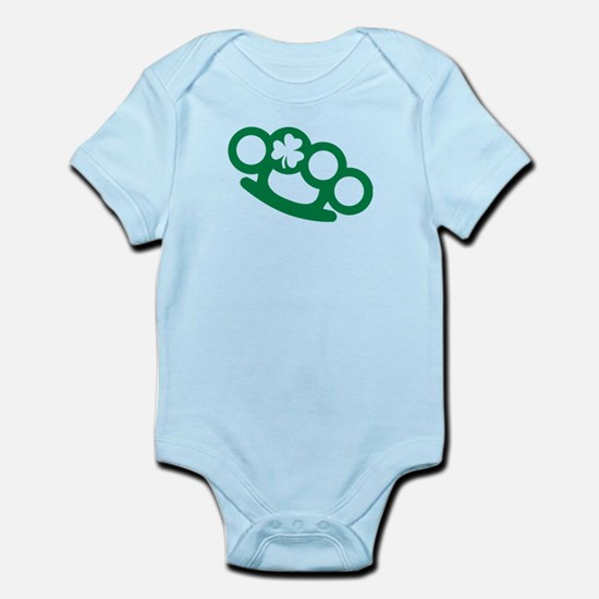 Brass knuckles shamrock irish Infant Bodysuit