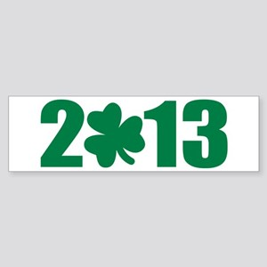 St. Patrick's day 2013 shamrock Sticker (Bumper)