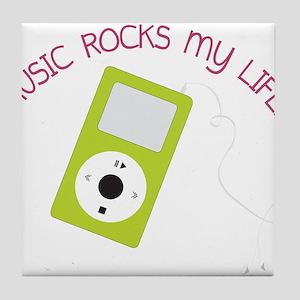 Music Rocks Tile Coaster