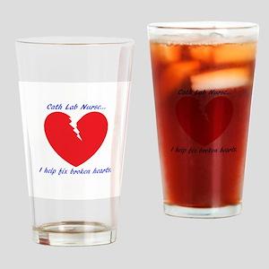 Cath Lab Nurse Drinking Glass