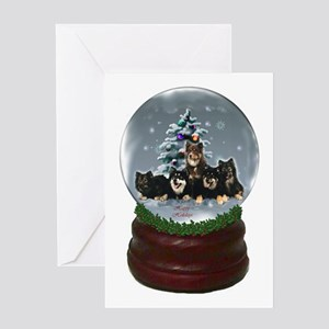 Finnish Lapphund Christmas Greeting Card