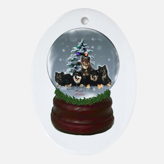 Finnish Lapphund Christmas Oval Ornament