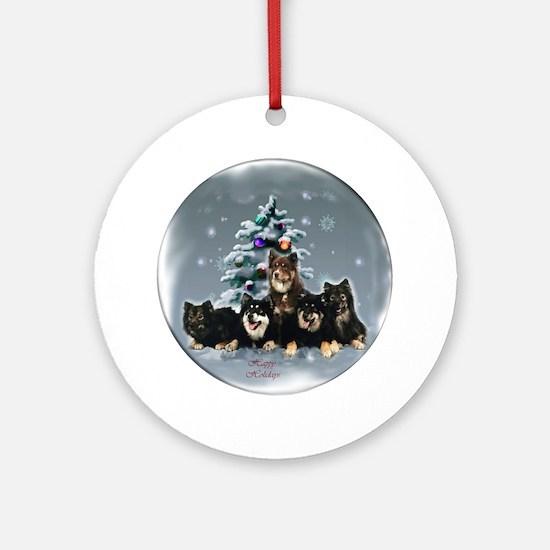 Finnish Lapphund Christmas Round Ornament