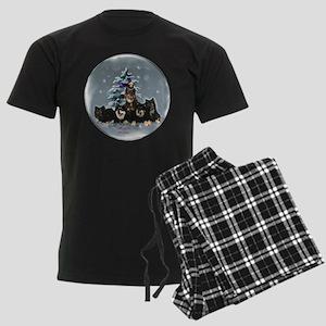 Finnish Lapphund Christmas Men's Dark Pajamas