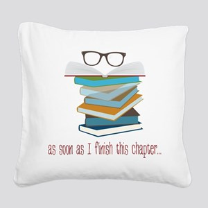 This Chapter Square Canvas Pillow