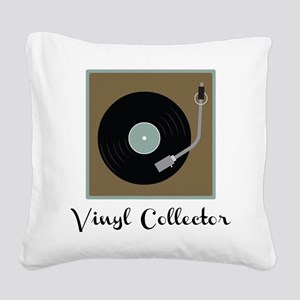Vinyl Collector Square Canvas Pillow