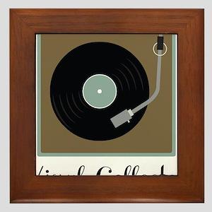 Vinyl Collector Framed Tile