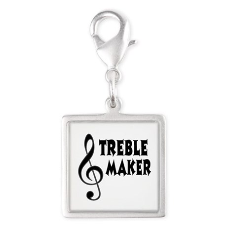 Treble Maker Silver Square Charm