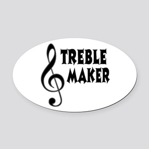 Treble Maker Oval Car Magnet