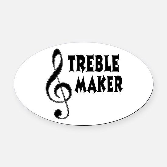 Treble Maker Oval Car Magnet