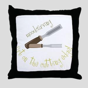 Woodcarving Throw Pillow