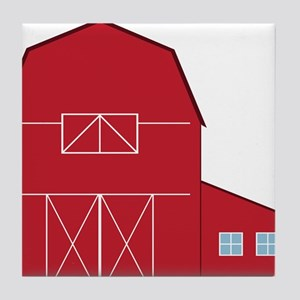 Red Barn Tile Coaster