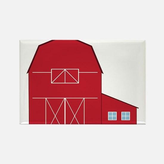 Red Barn Rectangle Magnet