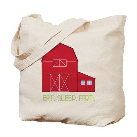 Eat Sleep Farm Tote Bag