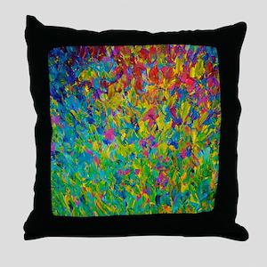 Rainbow Fields - Abstract Acrylic Painting Throw P