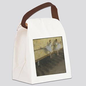 Dancers Practicing at the Bar Canvas Lunch Bag