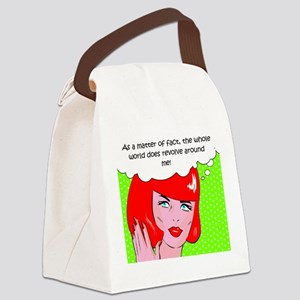 The World Revolves Around Me Canvas Lunch Bag