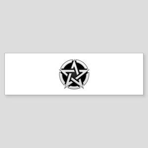 Chrome Pentagram Sticker (Bumper)