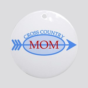 Cross Country Mom Train to Watch Ornament (Round)