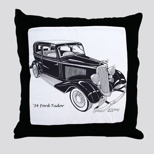 '34 Ford Tudor Throw Pillow