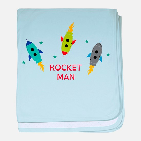 Rocket Man baby blanket