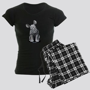 Cute Rhino Women's Dark Pajamas
